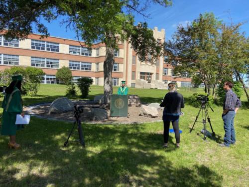 Valedictorian Address Filming