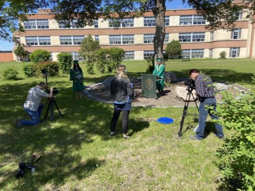 Valedictorian Address Filming 02