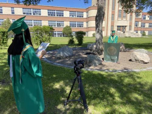 Valedictorian Address Filming 03